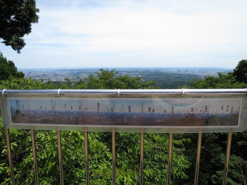 ケーブルカー上の駅付近の眺望