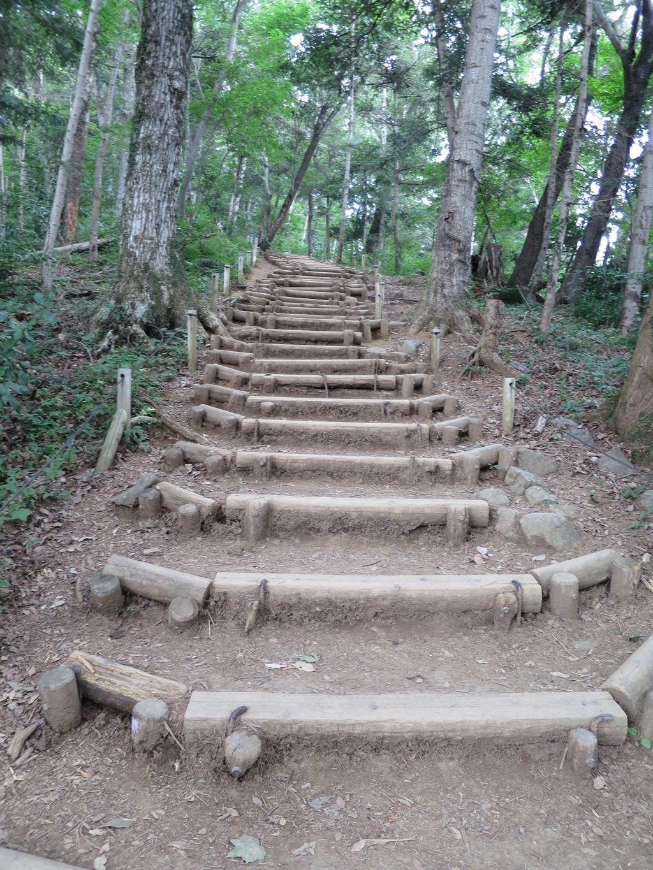 6号路最後の急な階段