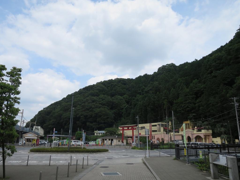 高尾山口駅付近の風景