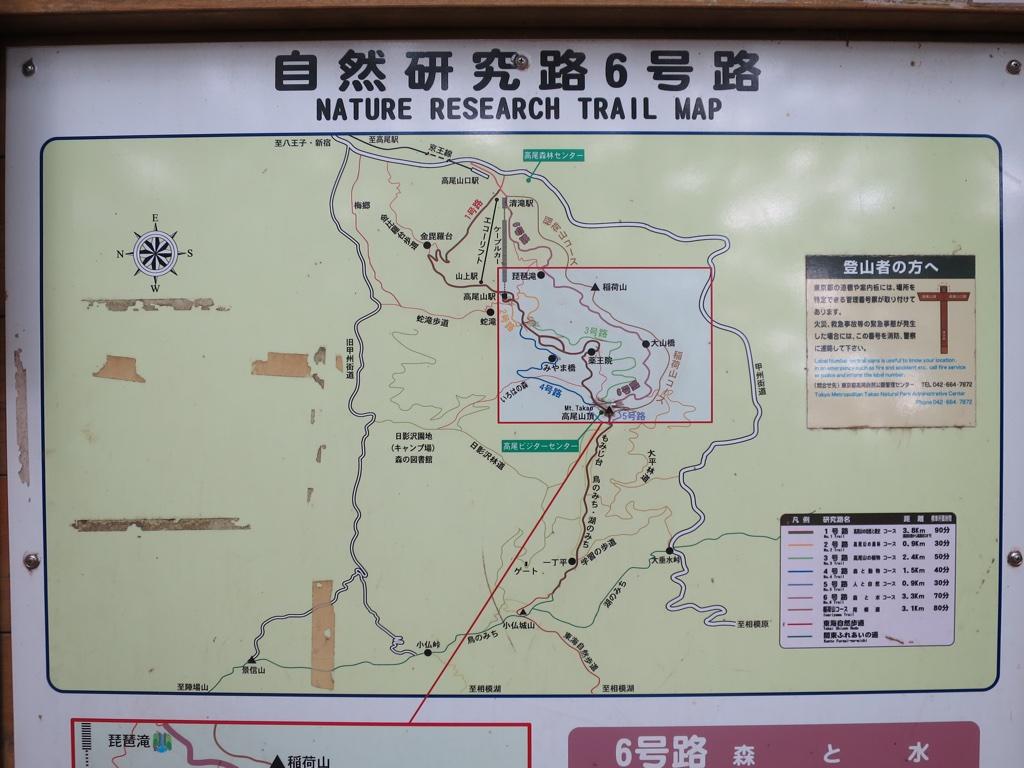 6号路上端付近の案内図