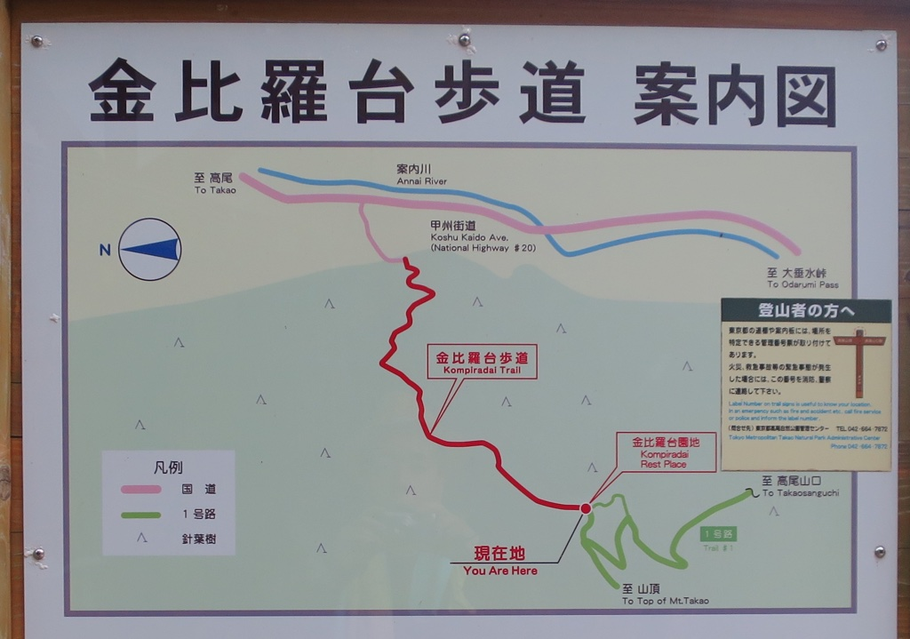 金毘羅台付近 案内図