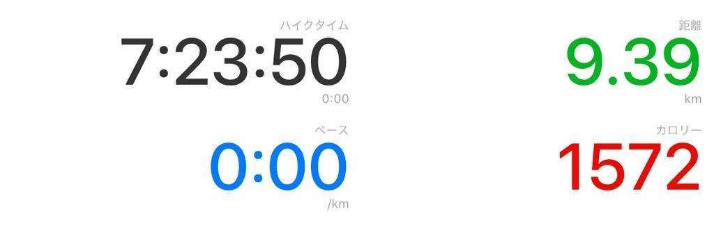 5回目Walkmeterアプリ数値画面