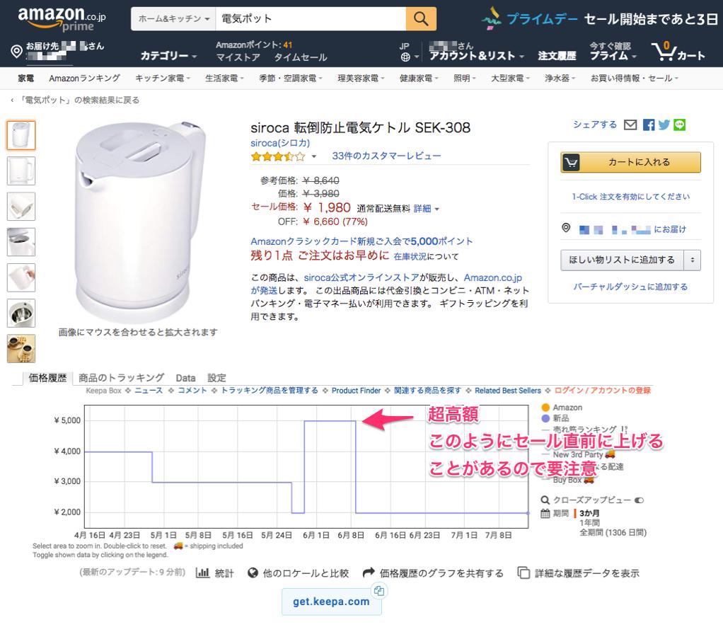 Amazon電気ボット価格グラフ