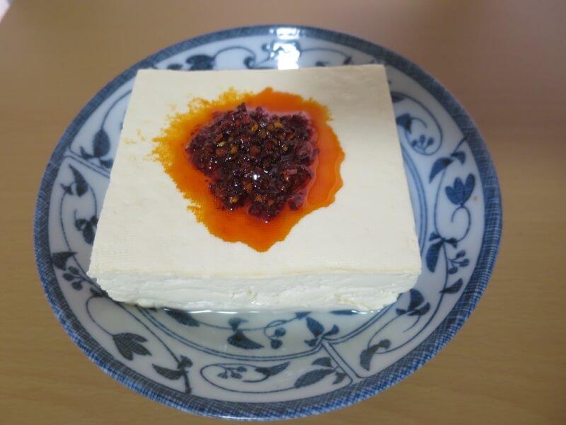 花椒辣醤で作った生麻婆豆腐