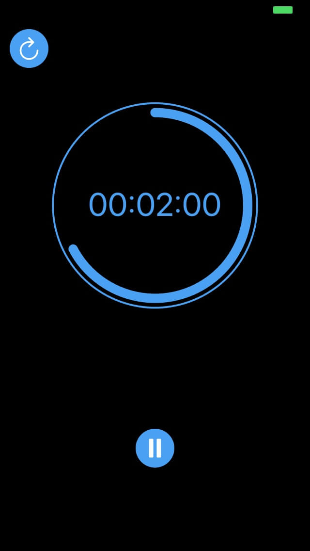 UpDown Timer two minutes left